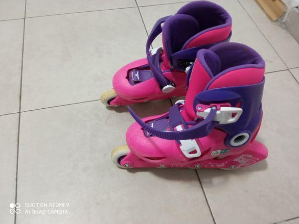 Детски ролери play3, розово/лилаво Oxelo