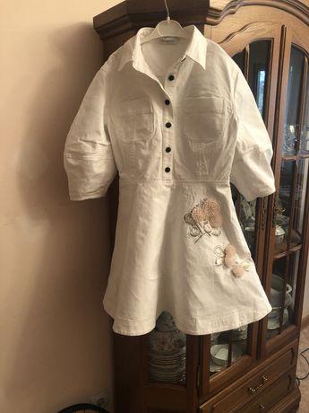 платье джинсовое белое