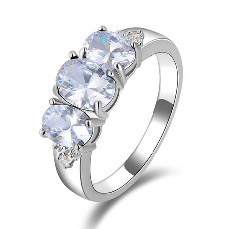 GPR166,inel placat aur alb 18k, model superb, zirconiu alb, logodna