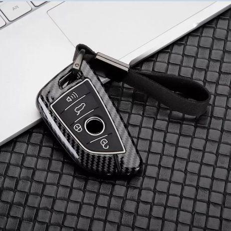 Карбонов калъф за ключ BMW X1 X5 X6 F15 F16 F48