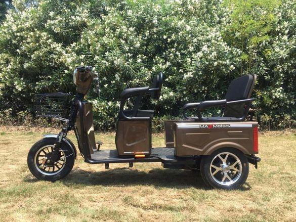 Двуместна електрическа карго триколка MAX MOTORS 1500W BROWN