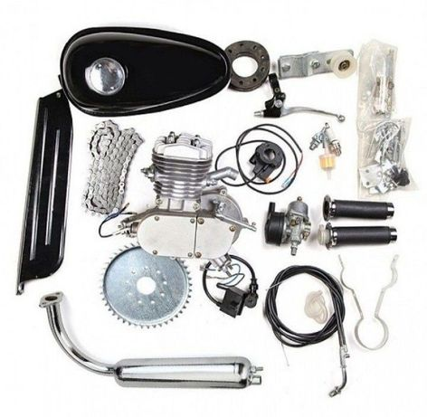 Бензинов Двигател за монтиране на Колело 50, 80 и 100 кубика Велодвига
