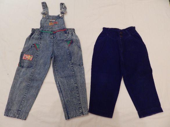 Дънков гащеризон + джинси за момче-2-3 години