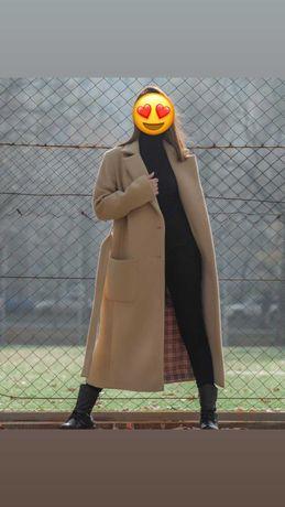 Шерстяное женское пальто казахстанского производства Sara fashion
