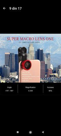 Lentile 3 in 1 pentru camera foto telefon, wide, Fish eye, macro
