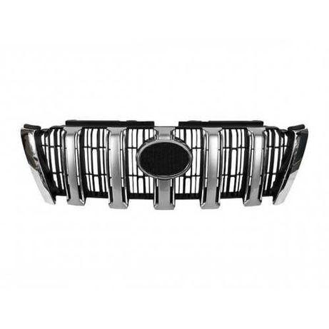 Решетка / решетка в бампер на Тойота Прадо 150-155 / Prado 150-155