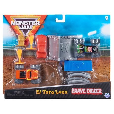 Set de joaca Monster Jam – El Toro loco si Groparul scara 1:24