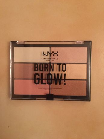 NYX Born to glow палитра хайлайтър