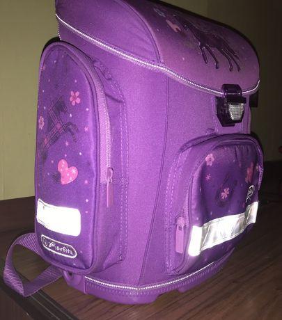 Школьный рюкзак (ранец, портфель) для девочек каркасный ортопедический
