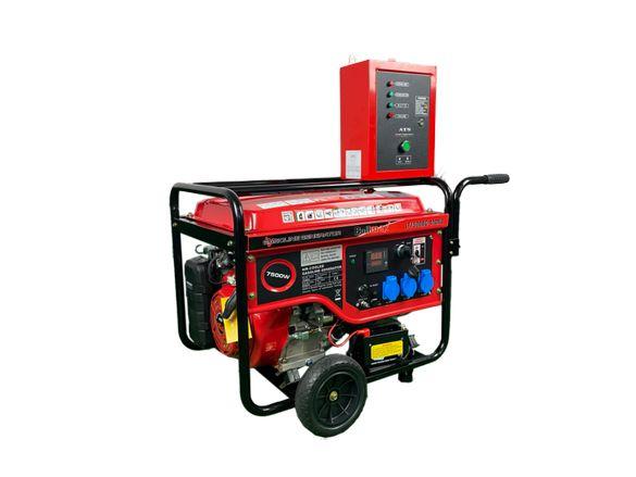 Бензинови генератори за ток 7.5 KW с ATS автомтичен - BULLMAX - топ це