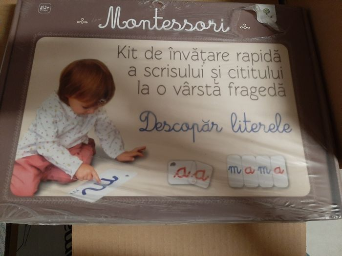 Montessori - Descoper literele. Kit de invatare rapida. Sigilat, nou Braila - imagine 1