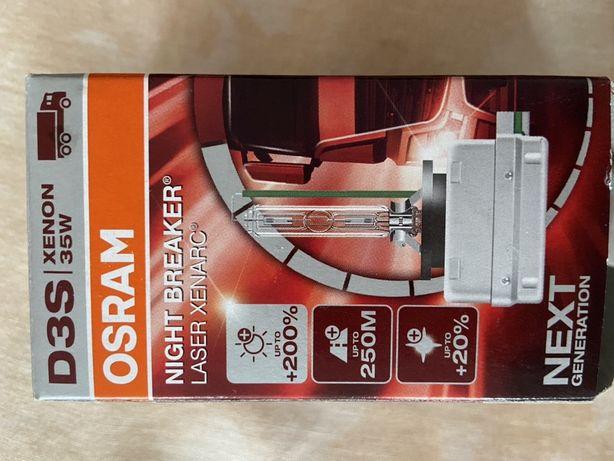 Bec auto far xenon Osram D3S Night Breaker Laser +200%, 35W, PK32d-5,
