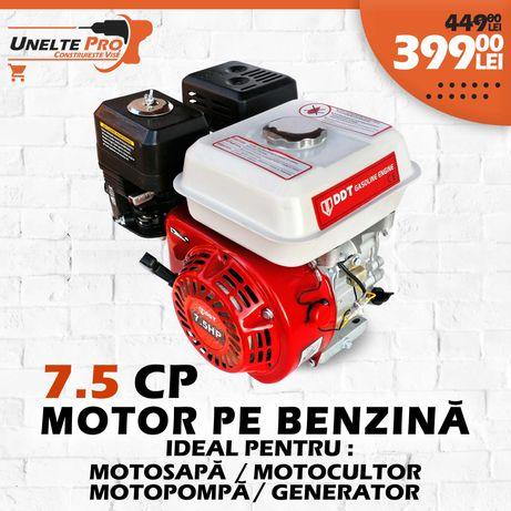 Motor pe Benzina DDT Profesional 7.5 CP cu fulie dubla 3600RPM
