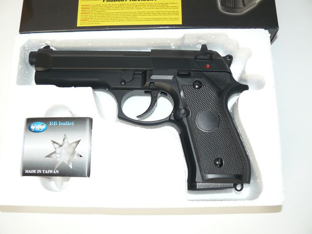 Pistol Airsoft BERETTA ST92F Pe Green GAS Model STTi GG104 Nou, NBB