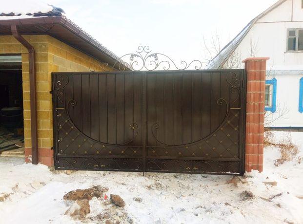 Качели, ворота,перила, заборы,металоконструкции,оградки, кованные изде