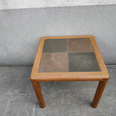 Стара дървена маса с плочки - Handmade by HASLEV - Denmark