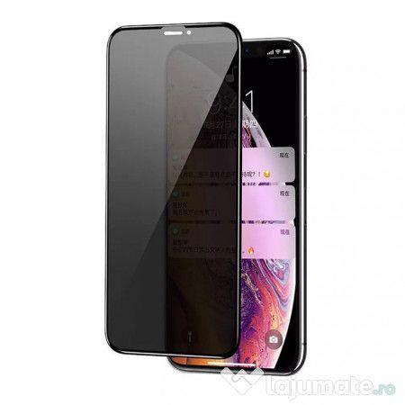 Folie Sticla Privacy iPhone 11Pro, 11 Pro Max, 11, Montaj Gratuit
