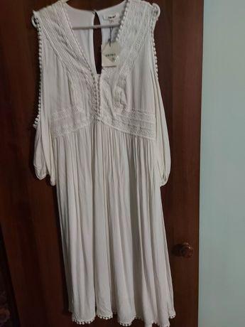 Платье белое х/б