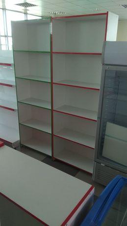 Стеллажи полки витрины шкафы витринные