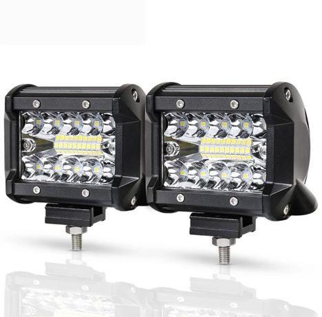 Proiectoare LED Bar 60W Offroad 10cm 6000 Lumeni SUV ATV Camion Utilaj