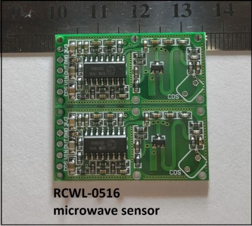 RCWL-0516 микровълнов датчик за движение.