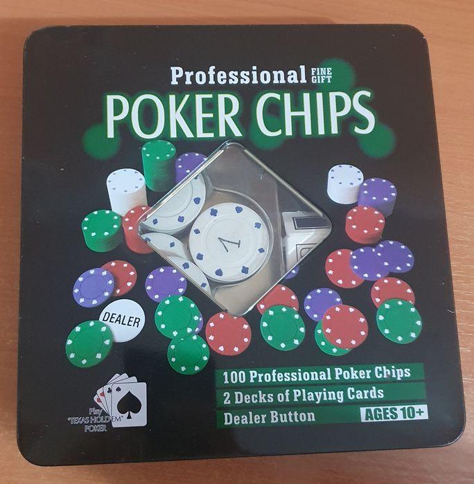 Set poker Almarox cu 100 de jetoane si 2 perechi de carti, 20x5x20 Oradea - imagine 1