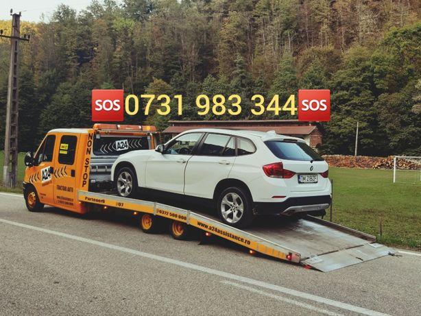 TractariAuto/Remorcari Auto Non Stop Pe orice Rută Platforma 6 locuri
