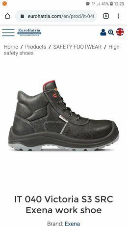 Нови!Exena Stark Мъжки Защитни обувки ЕСТЕСТВЕНА КОЖА 43,44,46 номер