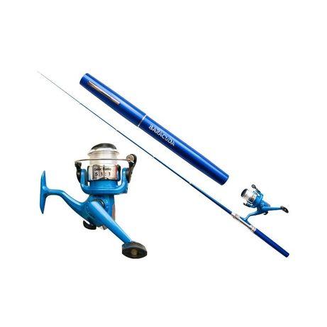 Kit pescuit Copca Lanseta tip stilou Baracuda + Mulineta cu nylon