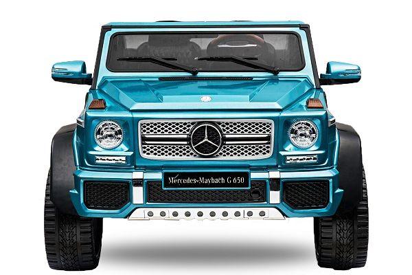 Masinuta electrica Kinderauto Mercedes G650 MAYBACH DELUXE #Albastru
