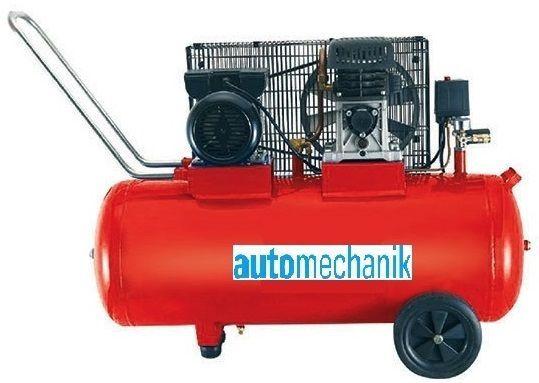 Компресор за Въздух Промишлен 100 литра , Усилен Дебит 370 л/мин