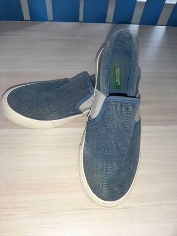 Оригинални дънкови обувки Benetton номер 35