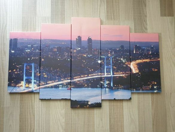 Картина пано от 5 части Истанбул
