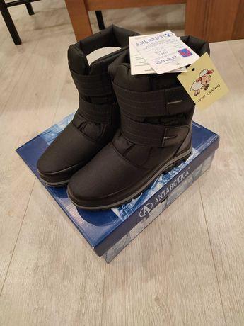 Сапоги дутики на мальчика 33/34 размер, новые, бренд Antarctica