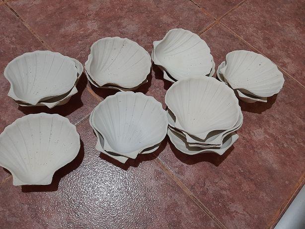 Scoici din  ceramica pentru platouri,creveti,orez