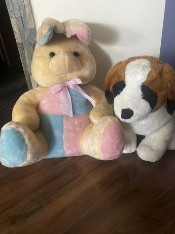 Плюшени играчки/ Заек и куче