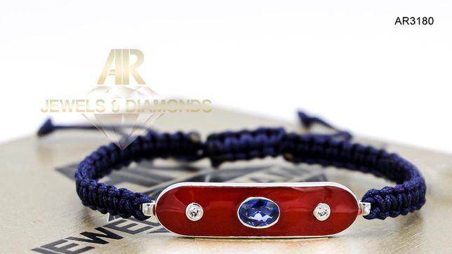 Bratara Aur 14K cu DIAMANTE si BLUE SAPPHIRE model nou ARJEWELS(AR3180