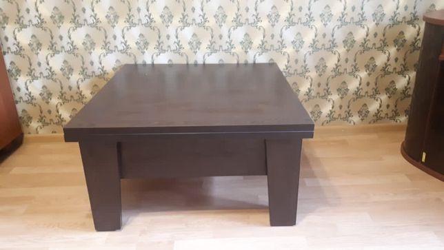 Срочно продам диван и кресло (кожа), тумбу под тв, кухонный стол