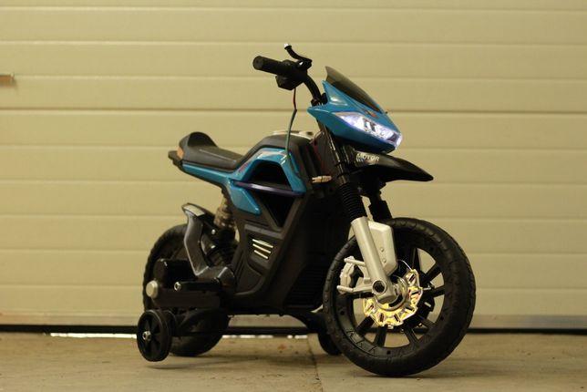 Motocicleta electrica pentru copii JT5158 35W 6V cu Music Player #Blue