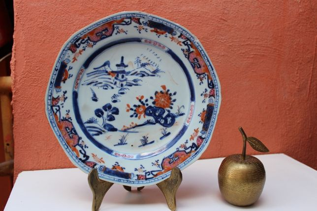 Farfurie portelan colectie CHINA - YONGZHENG secolul 18, Famille Rose
