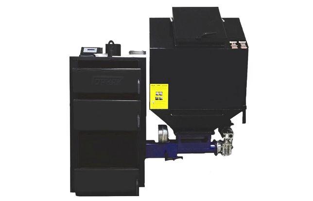 Шнековый автоматический котел Горняк мощностью 30 кВт (300кв.м)