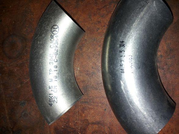 коляно хром никел 90градуса 44,5 по 1,5 и 44,5 по 2