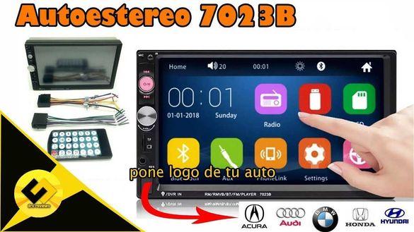 Мултимедия за кола 7023B Двоен дин плеър за автомобил с екран дисплей