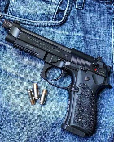 Pistol FULL METAL Aer Comprimat Upgrade 4,7jouli/Co2+Bile