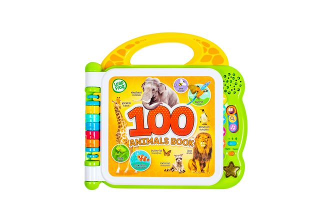 Carte Jucarie Interactiva LeapF - 100 Animale - Engleza si Spaniola