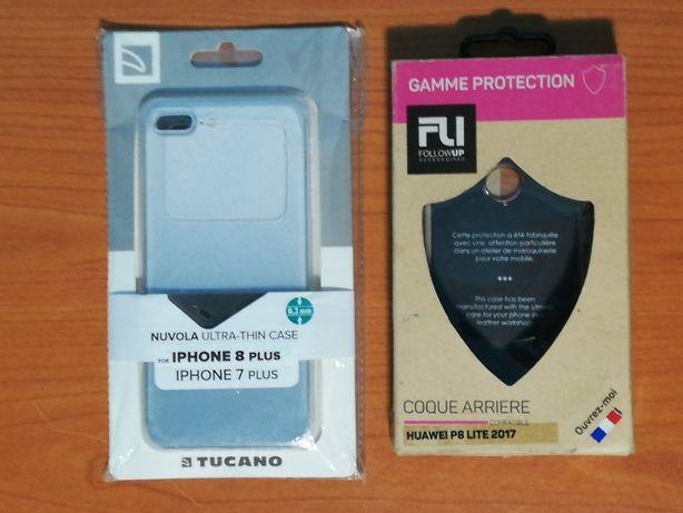 Husa protectie spate smartphone iphone 8 plus transparenta si Husa Hua