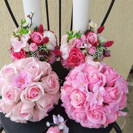 Seturi nunta din trandafiri de săpun