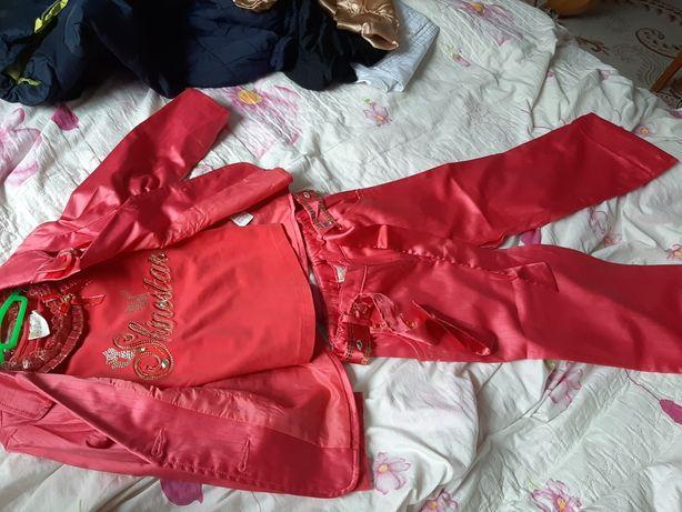 Тройка костюм штаны пиджак футболка для девочки Deloras
