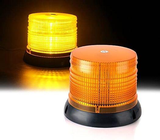 Жълт сигнален авариен буркан за запалка на кола, жълти LED сигнални