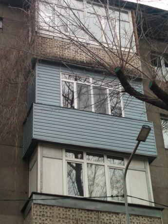 Ремонт балкон в Алмате утепление остекления стройной шкаф